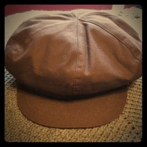 Brown nine West paperboy hat